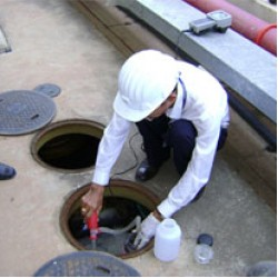 งานบริการสำหรับระบบบำบัดน้ำเสีย ขนาดเล็ก